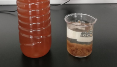 Decolorization of blanket wastewater