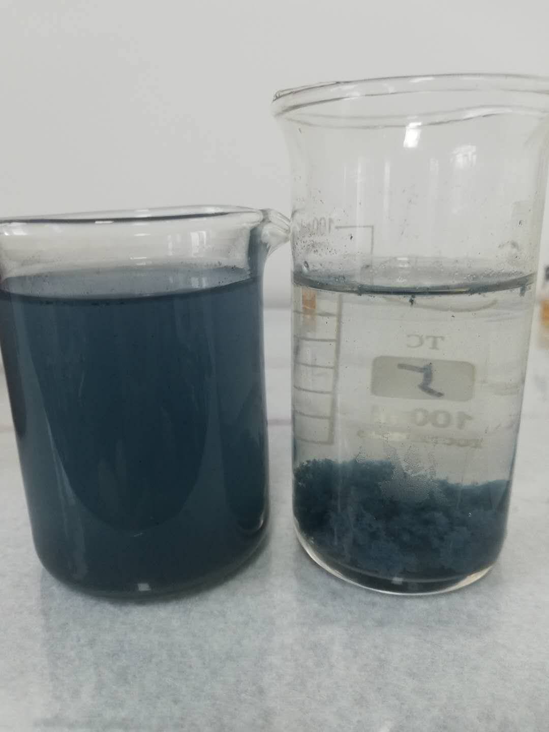 Decolorization effect of dyeing wastewater treatment
