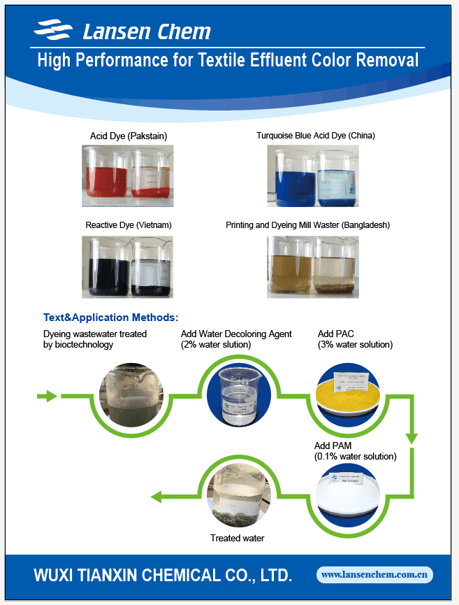 Good quality water decoloring agent