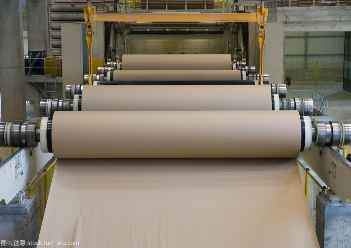 Modern papermaking process flow